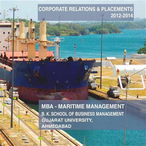 Maritime Mba Program by Placement Brochure 2012 14 By Maritime Management Issuu