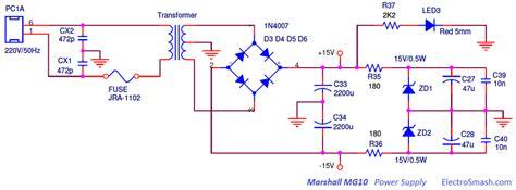transistor g10 electrosmash marshall mg10 analysis