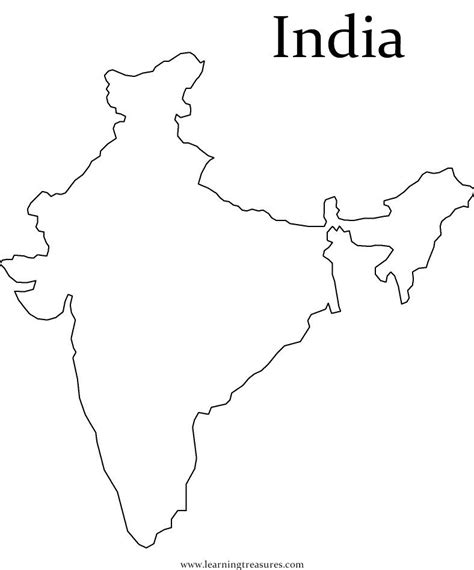 India Map Coloring Pages by Map Of India For Coloring Home