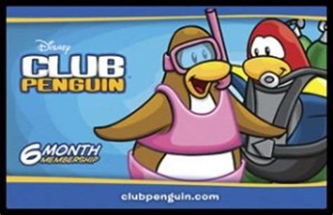 Club Penguin Gift Card 1 Month - disney club penguin 6 month membership game card allows you to build your igloo and