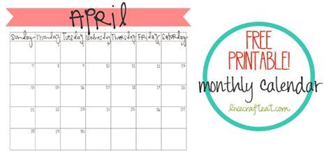february 2018 calendar free printable live craft eat april 2013 calendar printable live craft eat