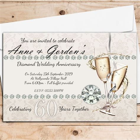 10 Personalised 60th Diamond Wedding Anniversary