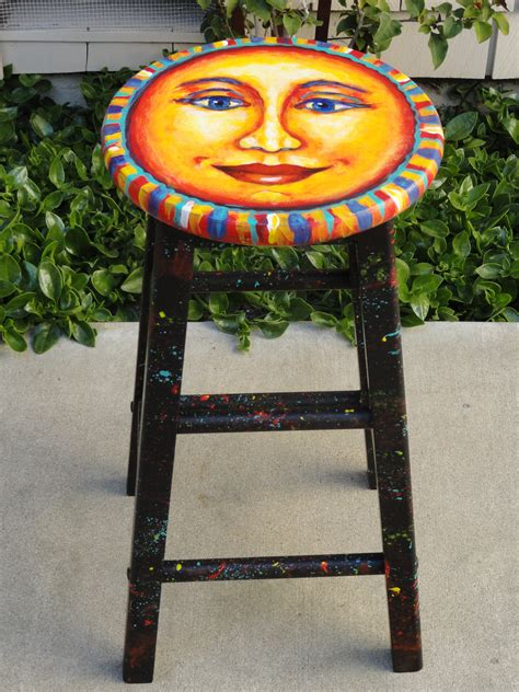 Stool Painting by Charming Chair Sun Author Shannon Grissom
