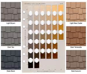 soil color chart terra firma colors for your slate or shake roof davinci
