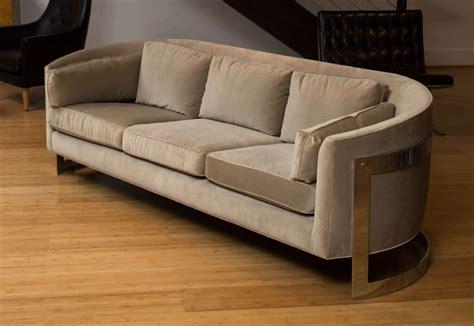 selig sofa selig chrome frame sofa at 1stdibs
