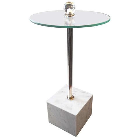 Marble Base Table L drinks table with marble base for sale at 1stdibs