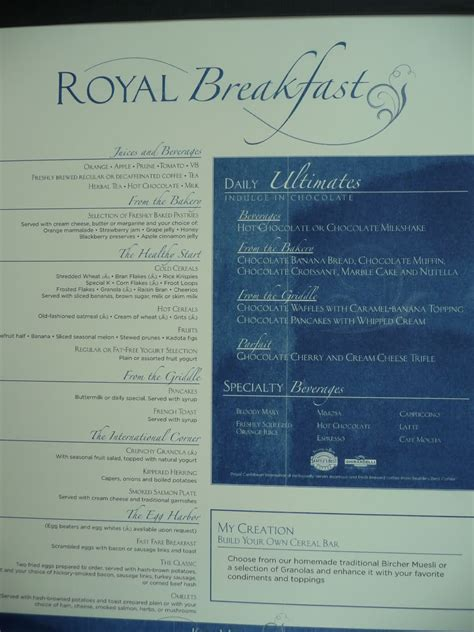 royal caribbean room service liberty of the seas dining room menu room design ideas