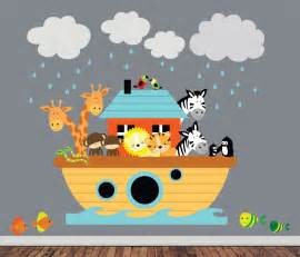 Noah Ark Wall Stickers reusable noahs ark wall decal childrens fabric wall decal