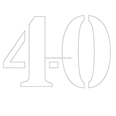printable 12 inch number stencils free 12 inch 40 number stencil freenumberstencils com