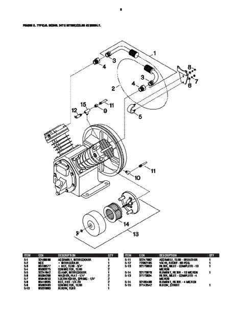 ingersoll rand parts diagram ingersoll rand 2475 air compressor parts list