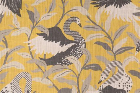 robert allen drapery fabric robert allen swanwood printed cotton drapery fabric in saffron