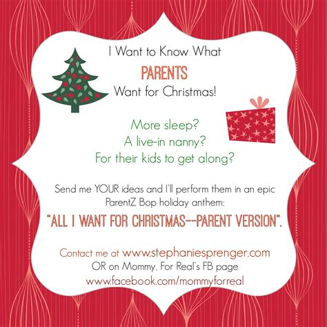 parentz bop what moms really want for christmas mommy