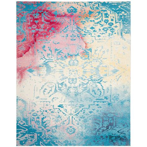 watercolor area rug safavieh watercolor light blue light yellow 8 ft x 10 ft area rug wtc620g 8 the home depot