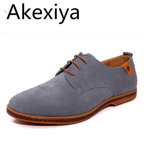 Suede Flat Shoes Polos akexiya fashion shoes suede leather casual flat shoes lace up s flats for rubber
