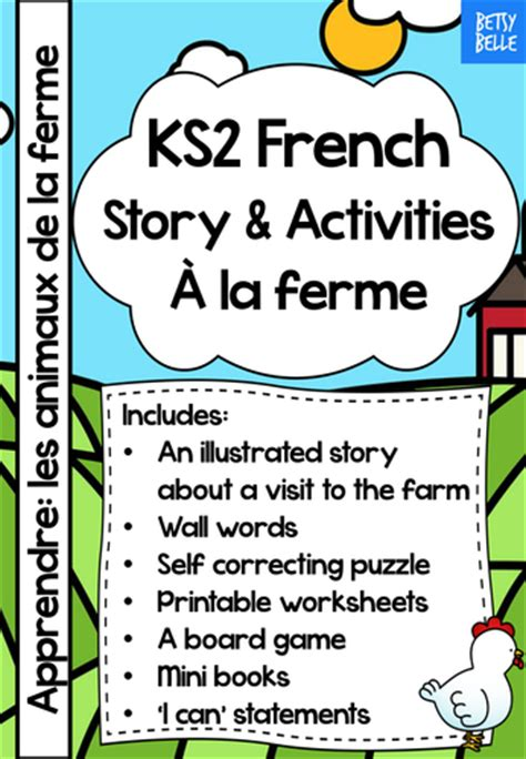 tes new year story resources ks2 story at the farm by betsybelleteachesfrench