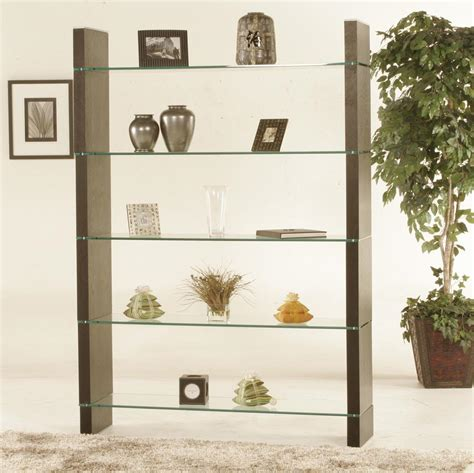 Glass Shelf Dividers glass bookcase or room divider room dividers and screens