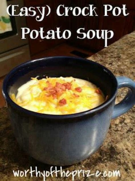 easy crock pot potato soup soups pinterest