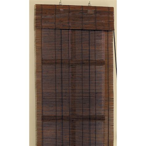 Bamboo Roll Up Blinds Shop Style Selections 24 Quot W X 72 Quot L Cocoa Bamboo 1 4 Quot Slat
