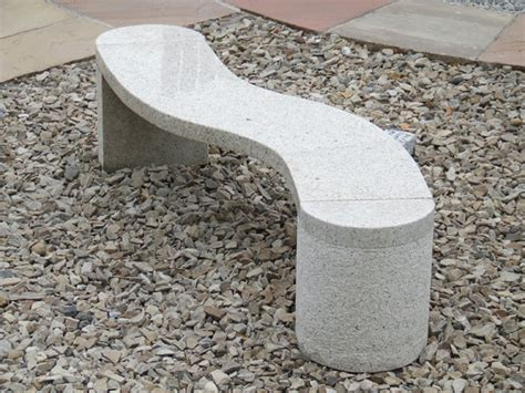 s shaped bench furniture decorative aura stone