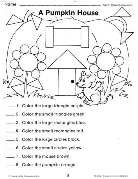 directions activity worksheet following directions coloring worksheets coloring pages