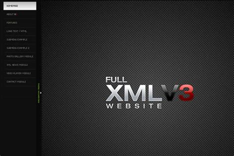 xml templates for website flash xml portfolio templates software free download