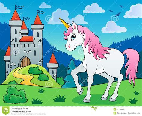 unicorn fairy tale illustrations fairy tale unicorn theme image 5 stock vector image