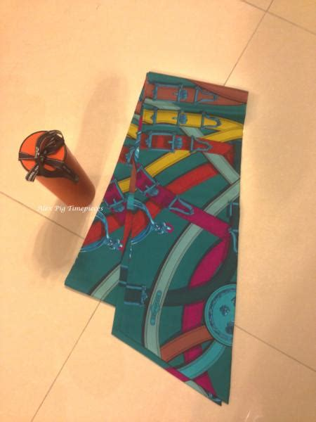 New Hermes Maxi brand new hermes maxi twilly with box and ribbon packing alex pig timepieces