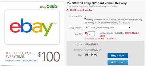 Paypal Gift Card Ebay - ebay deals 6 off ebay gift code ways to save money when shopping