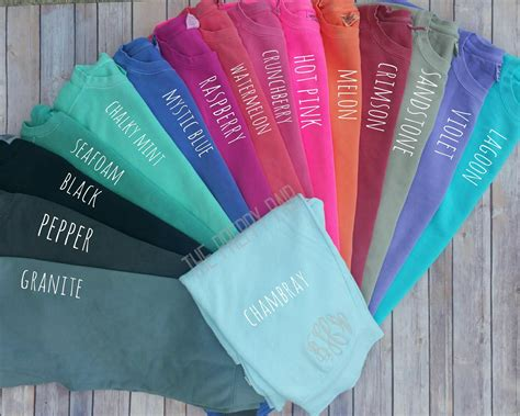 comfort color comfort color sleeve monogram pocket t shirt