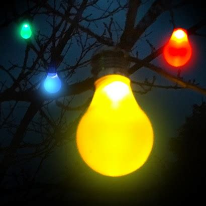 Solar Hanging Colour Light Bulbs Coloured Solar Lights