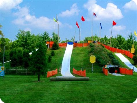 ticonderoga farms slide down one of our hillside slides picture of