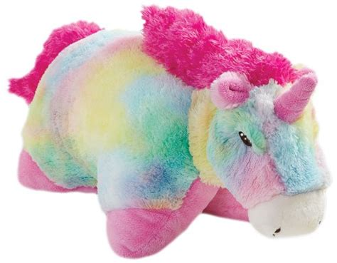 Pillow Pet Rainbow Unicorn - pillow pets 30 inch jumbo folding plush pillow rainbow