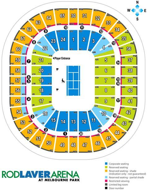 rod laver arena floor plan rod laver arena seating plan map events parking