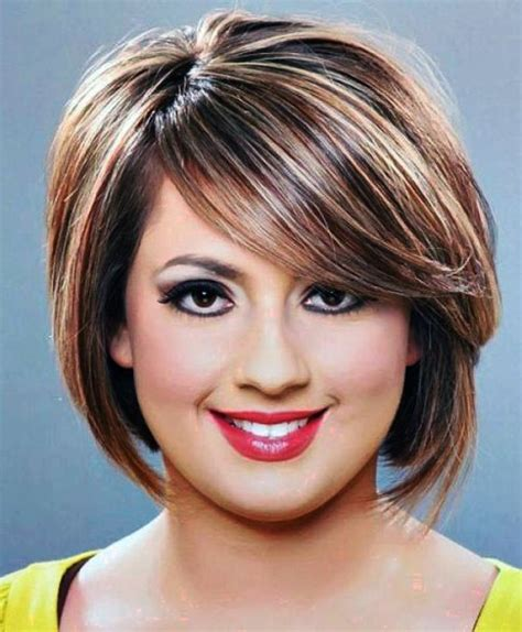 hairstyles for round face plus size women short haircut styles for plus size women google search