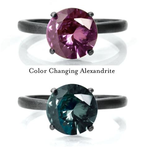 alexandrite color change 6mm alexandrite ring color change alexandrite engagement