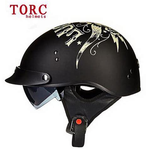 Open Retro Cycling Motorcycle Skull Helmet sale torc t55 vintage half motorcycle helmet vespa retro open bicycle helmets dot