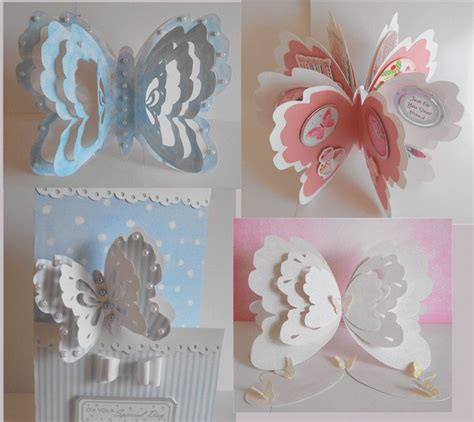 3d card templates set of 3d butterfly shaped card templates also available
