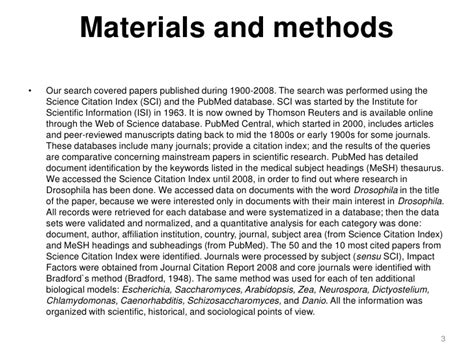 materials and methods section materials and methods scientific paper exle