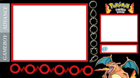 free layout youtube my pokemon fire red game layouts overlays borader for