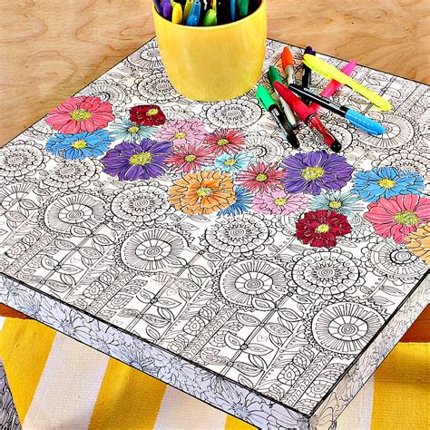 craft tables for adults coloring book table national craft month project