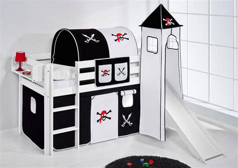 letto rialzato per bambini letto gioco rialzato bambini jelle con torre e scivolo