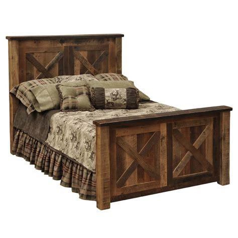 barndoor style barnwood bed western bedroom furniture