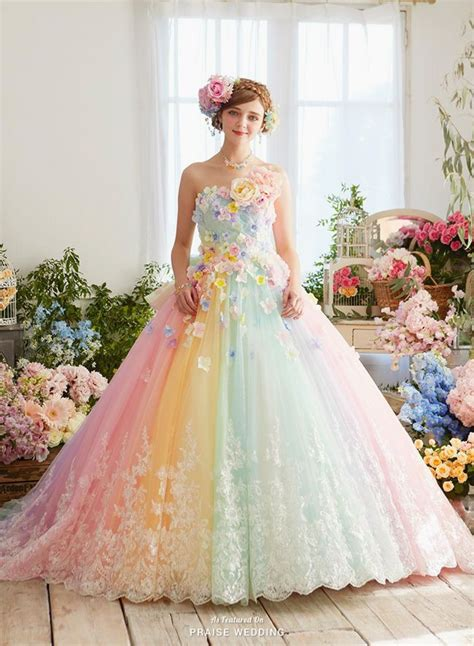rainbow colored dresses 21 unique wedding dresses ideas for brides who don t want
