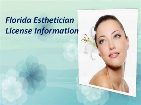 florida esthetician license information