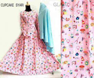 Ftn Best Seller Gamis Wanita Jersey Pink Syari Serena Pink Sw gamis syar i remaja b057 cupcake model baju muslim modern