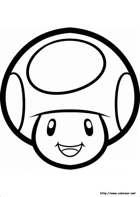 m mario mushroom coloring pages
