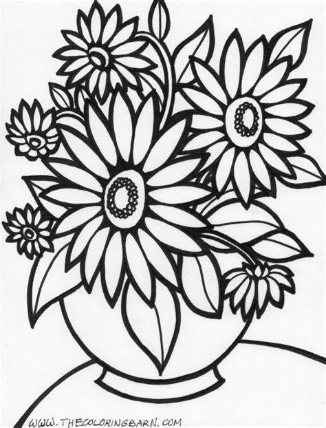 Flower Images Coloring Pages coloring pages flower coloring page flowers coloring
