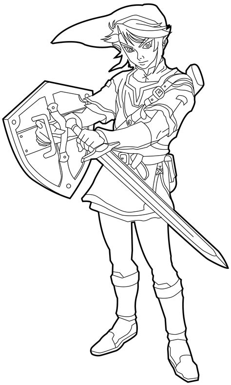 Free Zelda Coloring Pages Legends Of Zelda Birthday Legend Of Coloring Pages