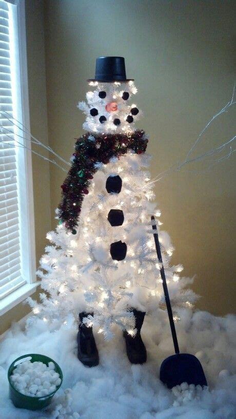 snowman tree white party pinterest