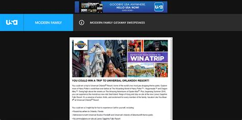 Modern Family Sweepstakes - usa network s modern family getaway sweepstakes